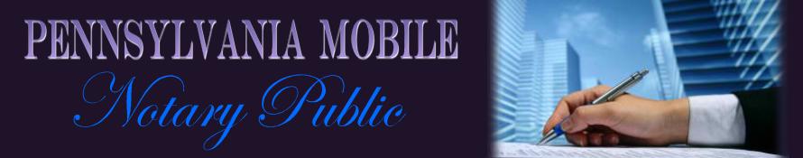 Pennsylvania Mobile Notary Public
